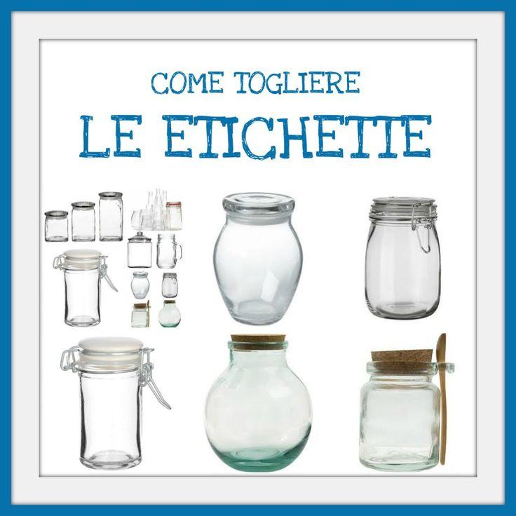 Come togliere etichette da barattoli e bottiglie di vetro - Vasetti vetro ikea ...