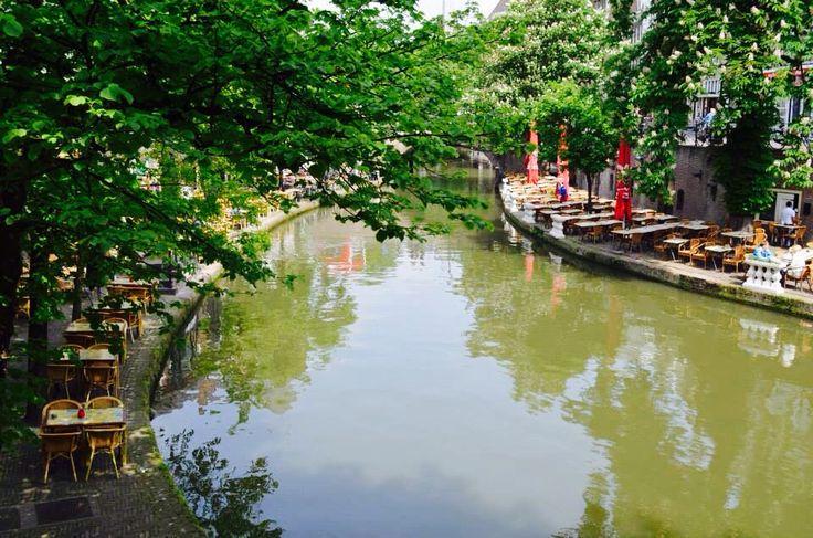 Utrecht - Netherlands - Canal Restaurant View