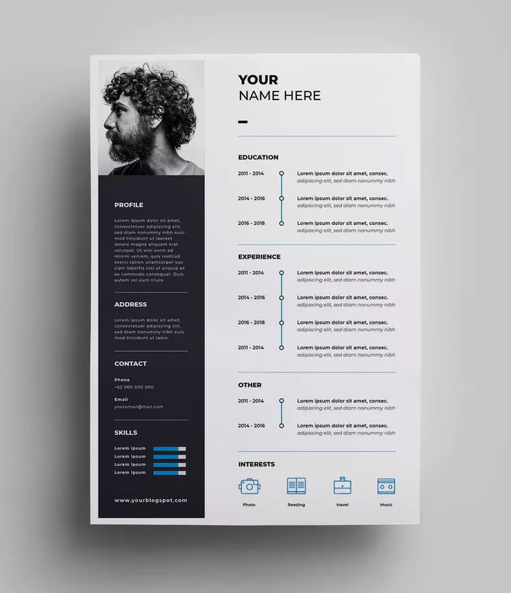resume design templates ai  eps  u2013 a4 paper size  download