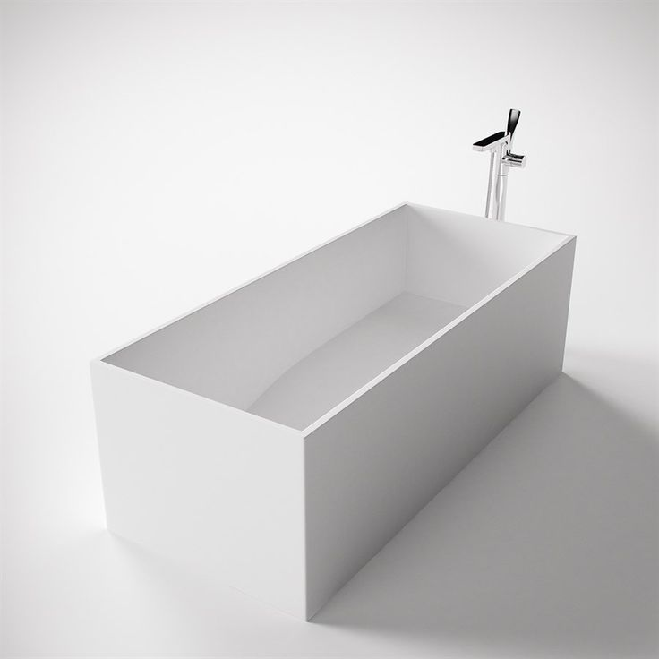 Frozen Tub 170 fritstående minimalistiske badekar. Fri fragt.