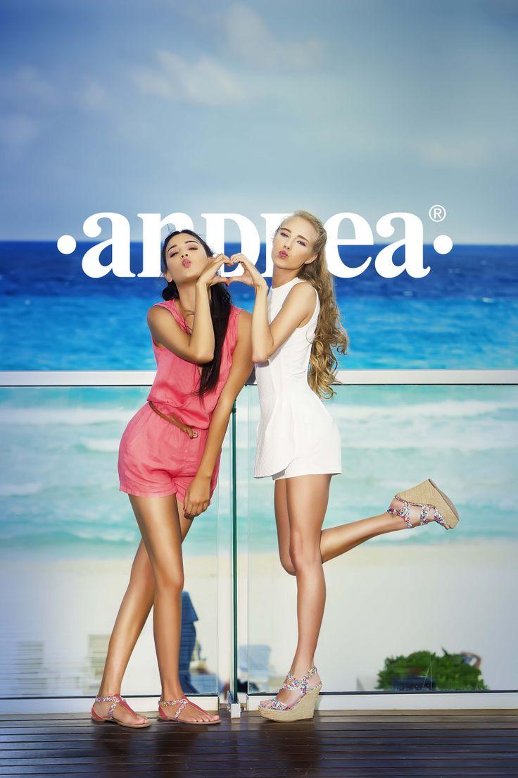 Comparte con tu #Bff  la magia del #verano #sandalias #Andrea #teens