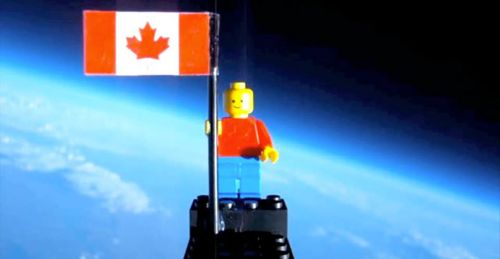 First Lego man in space.