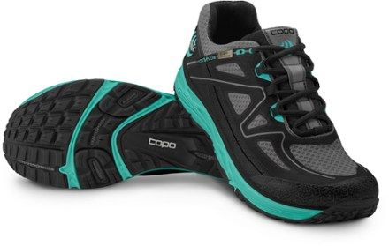 Topo Athletic Women's Hydroventure Trail-Running Shoes Black/Turquoise 9.5
