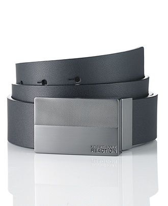 Kenneth Cole Reaction Belt, Dress Plaque Belt - Mens Belts, Wallets & Accessories - Macy's