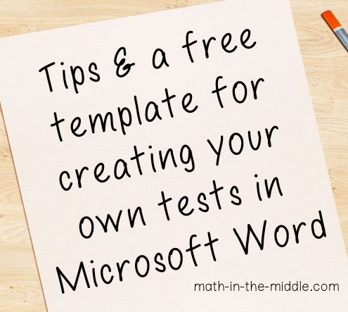 Blog post with tips for making your own tests and a free editable template you can use.