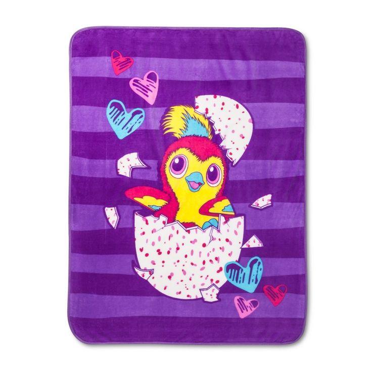 """Hatchimals Pink & Purple Throw Blankets (46""""x60"""")"""