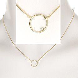 Moderne månesten runde zirkon vedhæng med halskæde i forgyldt sølv hvid topas