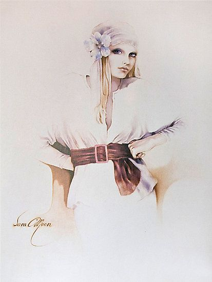 """Yvette"" Oil on Canvas by Sara Moon"