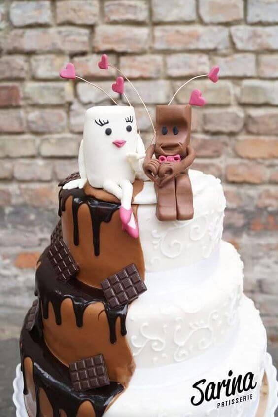 Cute and delicious! #hochzeitstorte #milch #schokolade