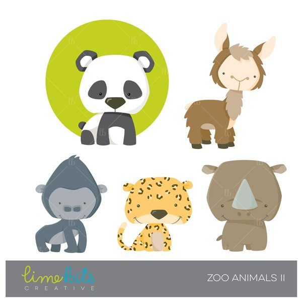 The cutest little animals are together on this set of graphics ready for you to use on invitations, party decor, embroidery, scrapbook or any craft you can think of. It includes: Llama, Panda Bear, Rhino, Leopard and Gorilla. Clipart comes as individual high resolution .png format files with transparent background perfect to place on top of textures or digital paper.