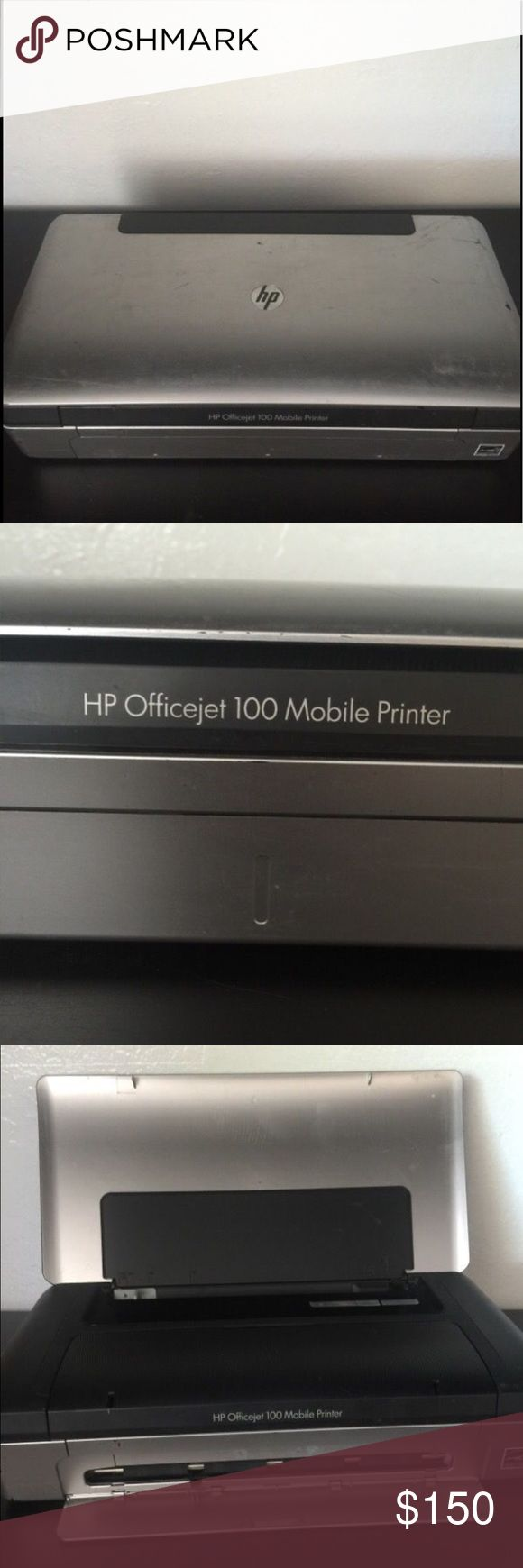 Portable/Mobile HP Officejet 100 Description Portable/Mobile HP Officejet 100 fairly new bought it a little over a year ago. Still has some ink . Comes with power cord. And software to install. Husband used for his business on busy days when he had no time to stop by the office. But no longer uses it.Still works great. COMES WITH INSTALLATION SOFTWARE   Thank you for your interest:) HP Other