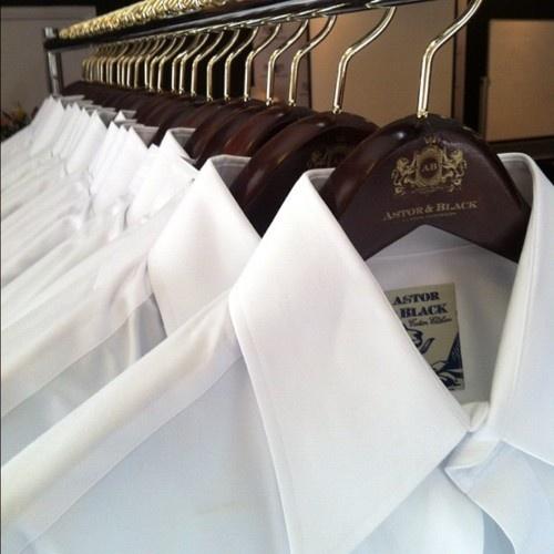 Crisp white @astorandblack #custom shirts #menswear (Taken with instagram)