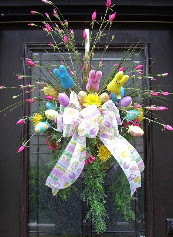 Easter Wreath Spring Wreath Easter Wall Basket Inspiration