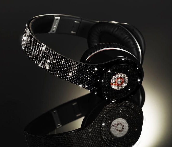 Awesome black sparkly beats headphones