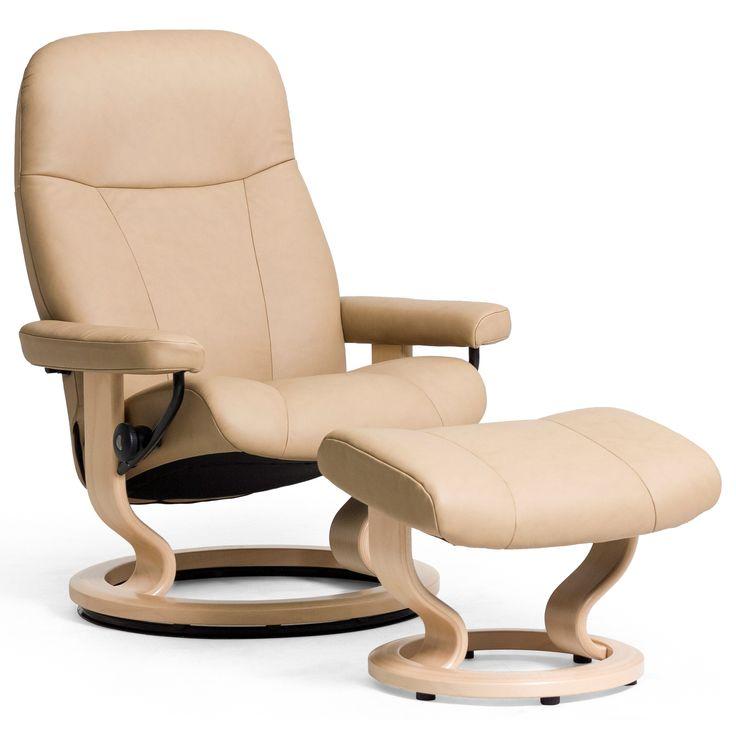 Shop For The Stressless By Ekornes Garda Reclining Chair U0026 Ottoman At  Conlinu0027s Furniture   Your Montana, North Dakota, South Dakota, Minnesota,  ...