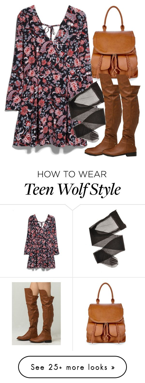 """Lydia Inspired Outfit - Teen Wolf"" by clawsandclothes on Polyvore featuring Sole Society, MANGO, NUVOLA and Wild Diva"