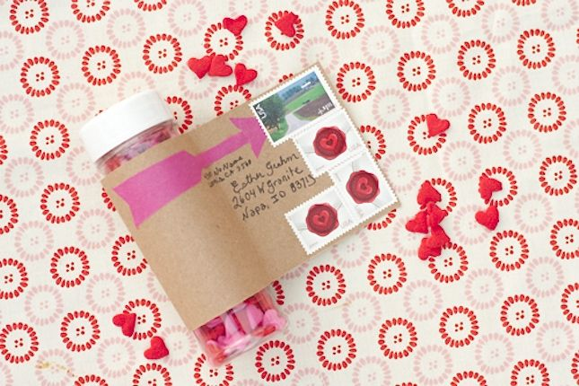 Mail Cool Things: Did you know you can mail anything 13 ounces or less without a box? Small fees may apply, but the possibilities are endless. Send a hefty helping of glitter or a bottle of sprinkles for Valentine's Day. (via Giver's Log) and Brit + Co.