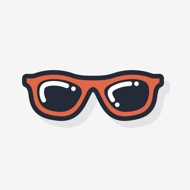 Warm Color Cool In Summer Cartoon Sunglasses Cool Hand Drawn Illustration Warm Color Cool In Summer Png And Vector With Transparent Background For Free Downl Summer Cartoon How To Draw Hands