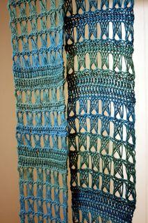 Emerald Isle Scarf  Free pattern  Broomstick Lace