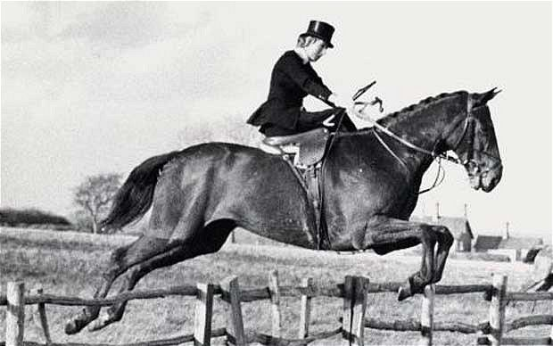 """Lady Margaret Fortescue (1923 - 2013) - A tiny, birdlike figure who invariably rode side-saddle, she went to the Midlands for fast hunting and perilous jumping (or """"leaping"""", of which """"real"""" hunting people disapprove). She was also known as a """"thruster"""" — a member of the field who rides close to the staff or hounds. """"I know you are in a hurry to get to the front,"""" one Master told her, """"but please don't keep barging everyone in the gateway — and could you stop your horse kicking mine again?"""""""