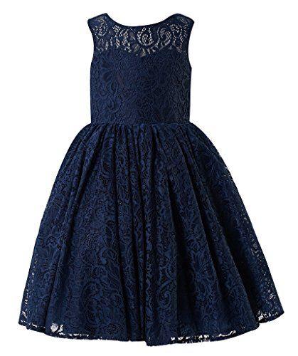 Princhar Navy Lace Flower Girl Dress Girls Kids Juniors Bridesmaid Wedding Dresses US 10T Navy princhar http://www.amazon.com/dp/B016M9HXNE/ref=cm_sw_r_pi_dp_Bc3uwb0CQEFX6