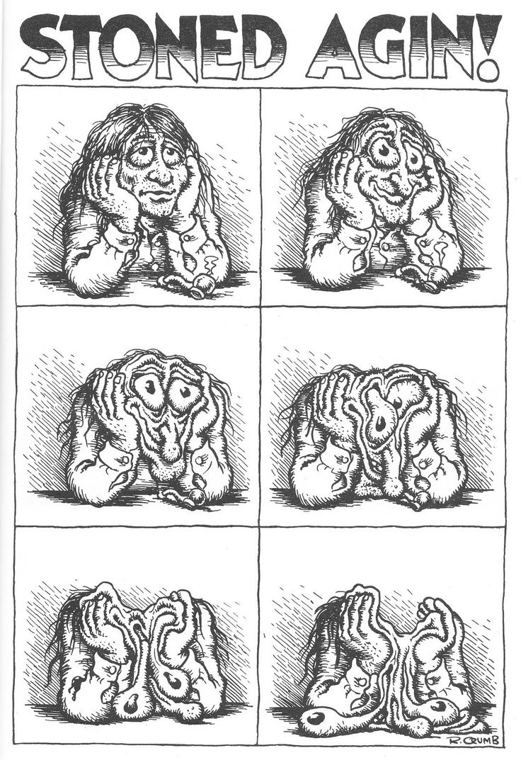Robert Crumb, STONED AGIN!                                                                                                                                                                                 More