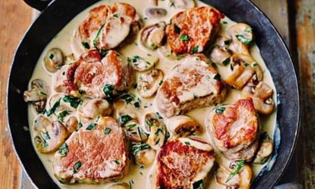 Gino's real Italian food pronto: Pork medallions in Marsala sauce - I'm going to try hacking this with pork/beef meatballs