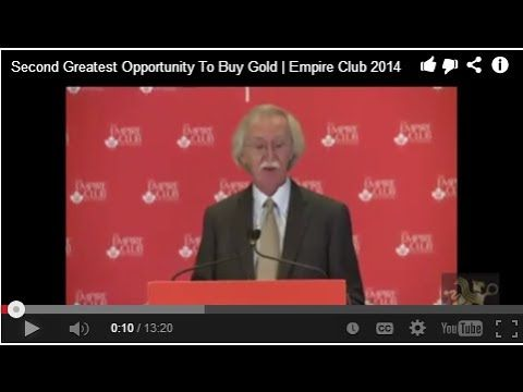Second Greatest Opportunity To Buy Gold | Empire Club 2014