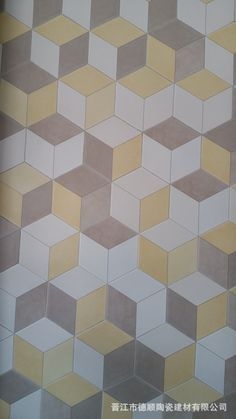 1000 id es sur le th me tuile hexagonale sur pinterest for Carrelage salle de bain jaune