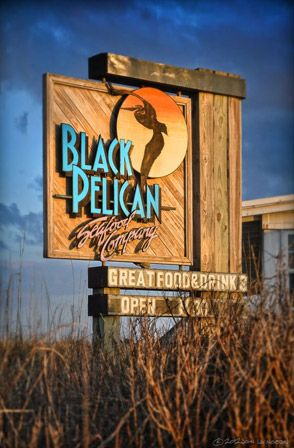 The Black Pelican in Kitty Hawk, NC. Featured on Food TV. Featured dishes: Citrus Rosemary Chicken, Wanchese Fisherman's Risotto.