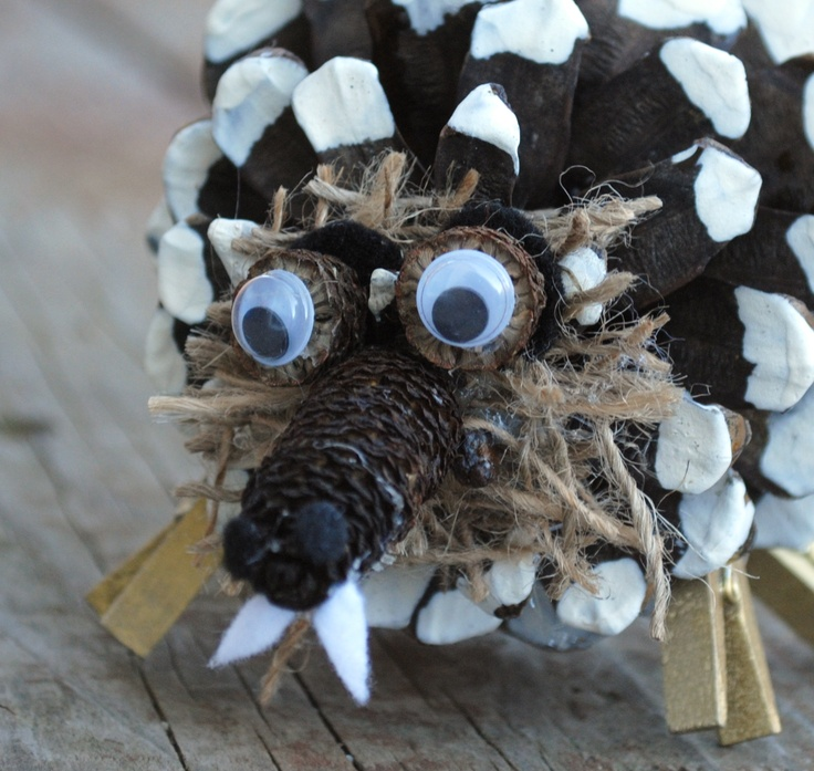 Pine Cone Animal Series: Saber-Toothed Squirrel by Crayon Box Chronicles
