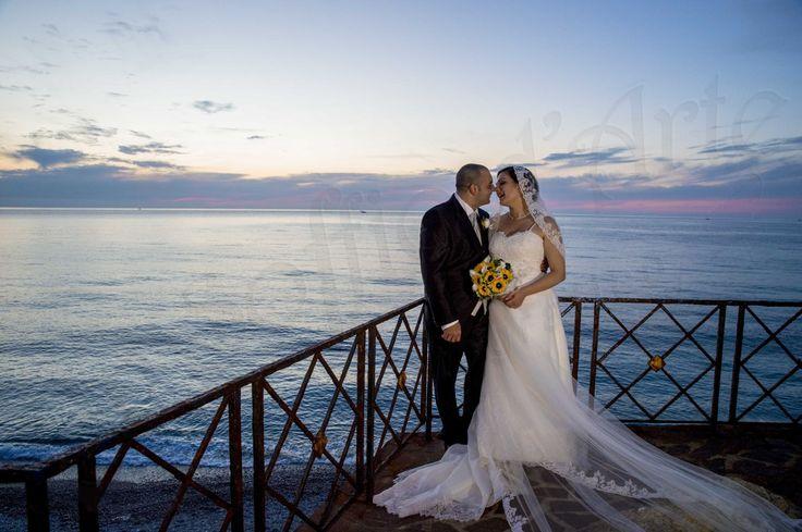 www.unsoffiodarte.it  fotografo per matrimonio a Reggio Un Soffio d'Arte. Sposi sul lungomare a Bagnara Calabra