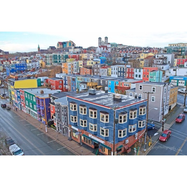 A Rainy Day in the City of 10,000 colors. St. John's Newfoundland. Home.
