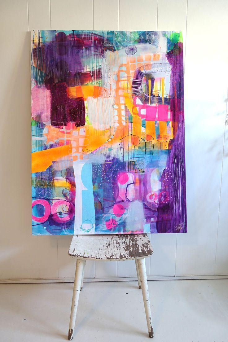 Purple painting by Mette Lindberg www.mettesmaleri.dk