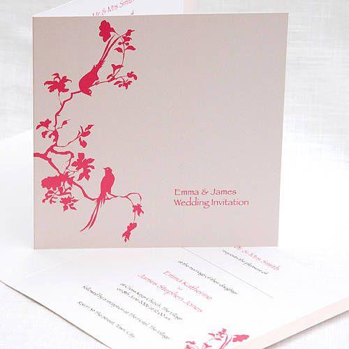 lovebirds wedding invitations by cherrygorgeous   notonthehighstreet.com