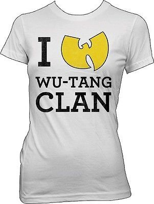 WUTANG - I Love Wu-Tang Clan - Girlie T SHIRT top S-M-L-XL Brand New Official in Clothing, Shoes & Accessories, Women's Clothing, T-Shirts   eBay