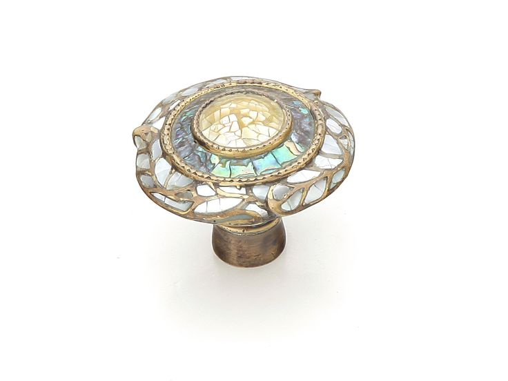 Aged Dover Cabinet Knob Symphony Inlays Decorative Hardware, Knobs, Pulls,  Handles For Cabinets.