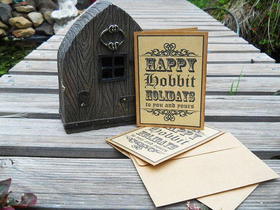 Hobbit  Happy Hobbit Holiday  Greeting Card by Beauladigitals