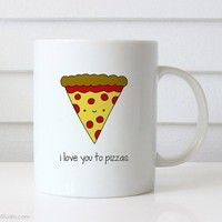 15$ Wish | Funny Mug Valentine Gift For Boyfriend Girlfriend Husband Wife Pizza Pun Valentines Day I Love You Birthday Gifts Cute Quote Mugs Her Him