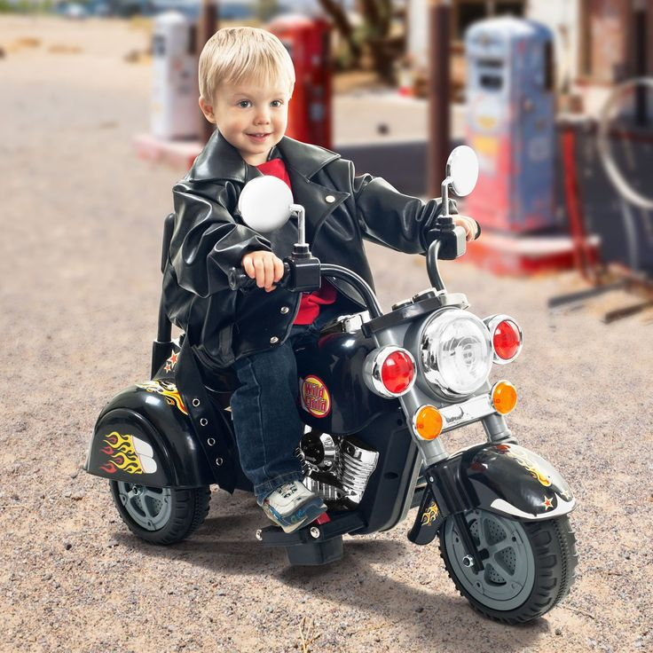 Have to have it. Lil Rider Harley Wild Child Motorcycle Battery Powered Riding Toy - Black - $119 @hayneedle