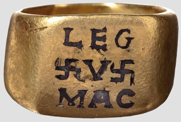 5th Legion Roman Gold Officer's Ring, 2nd-3rd Century AD The 5th Macedonian Legion (Legio V Macedonia) was founded in the year 43 BC by Octavian, the later Augustus, and Consul Gaius Vibius Pansa Caetroniasus. It existed in Moesia until the 5th century. The 5th Legion was one of the original 28 legions raised by Octavian. It is also the longest lived Roman Legion, spanning 680 years from 43 BC to 637 AD.