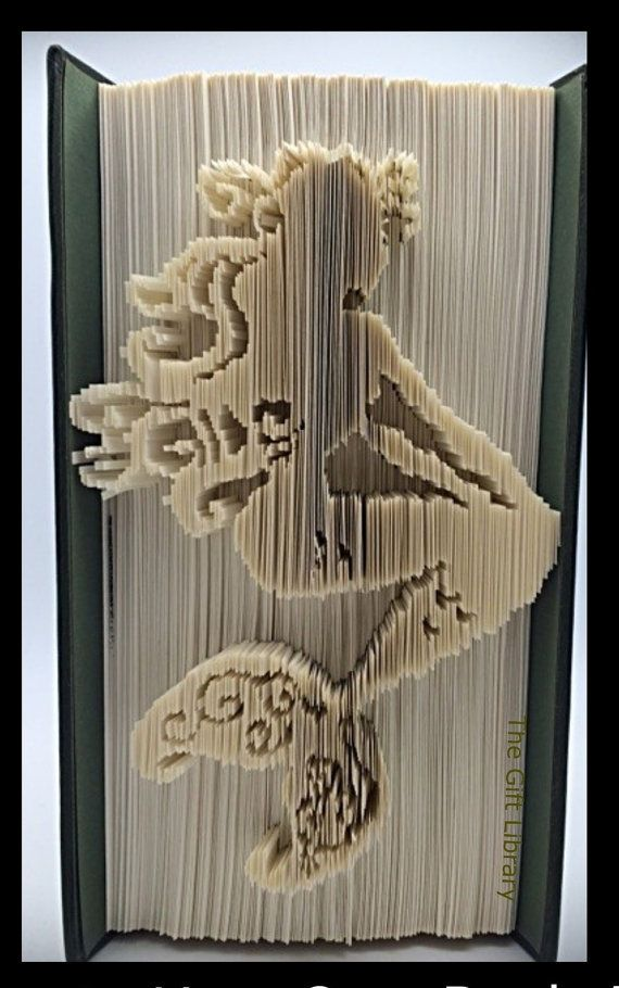 Folded Book Art Mermaid by TheGiftPage on Etsy