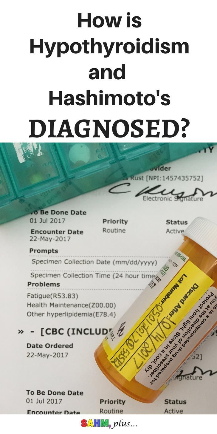 How is hypothyroidism diagnosed? Straight facts on the minimum tests you should expect for properly diagnosing hypothyroidism and/or Hashimoto's for treating your thryoid. www.sahmplus.com
