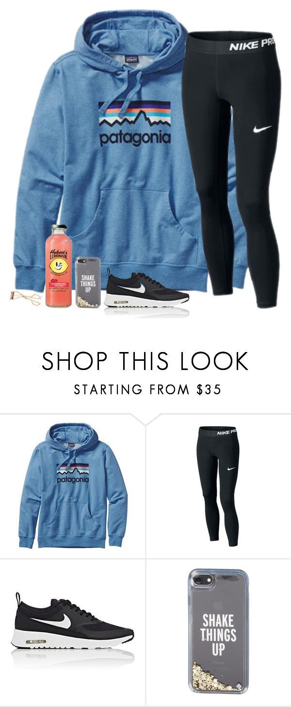 """THIS HOODIE!"" by southernstruttin ❤ liked on Polyvore featuring Patagonia, NIKE, Kate Spade and Charlotte Tilbury"