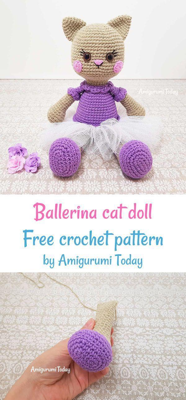 Ballerina Cat Doll Crochet Pattern Crochet Patterns Cat Doll