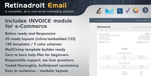 Responsive Email Template \ Invoice Template  Responsive has - invoice email