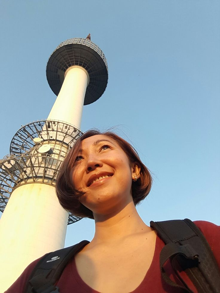 Namsan tower before sunset...