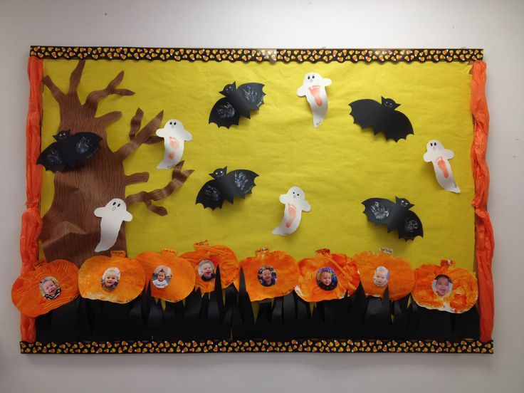 Infant Halloween Bulletin Board Halloween Bulletin Boards Preschool Bulletin Boards Preschool Bulletin