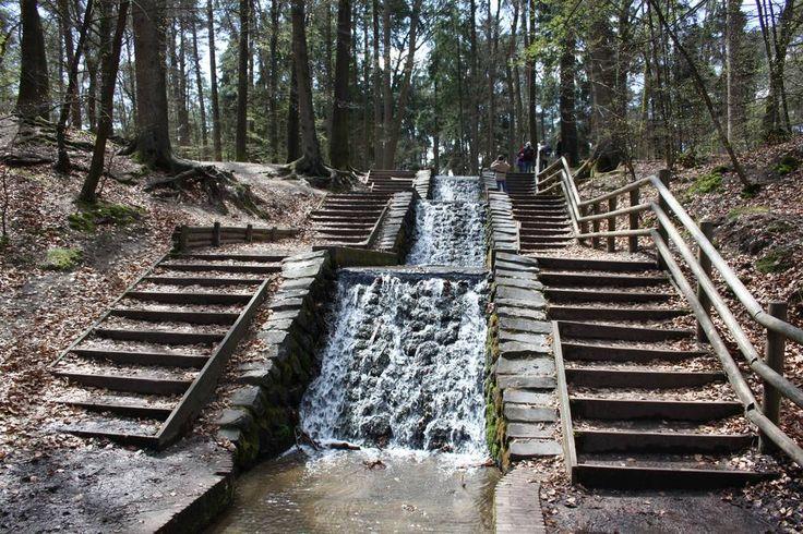 Loenense watervallen - Loenen Wandelroute van ruim 4 kilometer, waarbij je even kunt pootje baden in Nederlands grootste waterval.
