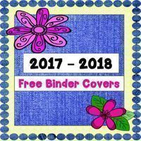 Included for your free download! 2017 -2018 Lesson Plan Cover 2017 - 2018 Evidence Binder Cover 2017 - 2018 Substitute Binder Cover 3 Coordinated Spines for each Binder Enjoy!